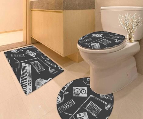Miki Da U-Shaped Toilet Mat