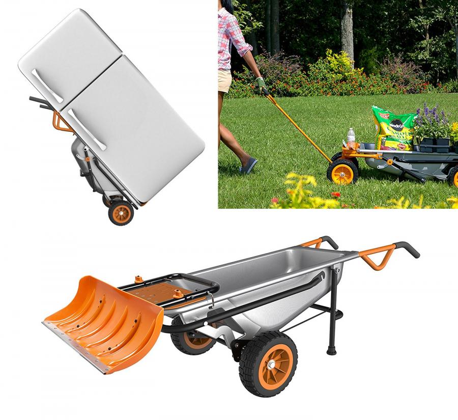 WORX Aerocart 8-in-1 Multi-Function Wheelbarrow Yard Cart