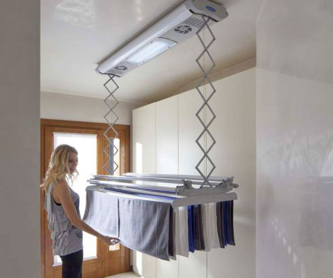 Foxydry Electric Clothesline: Raise and Lower Drying Clothes To Save Space