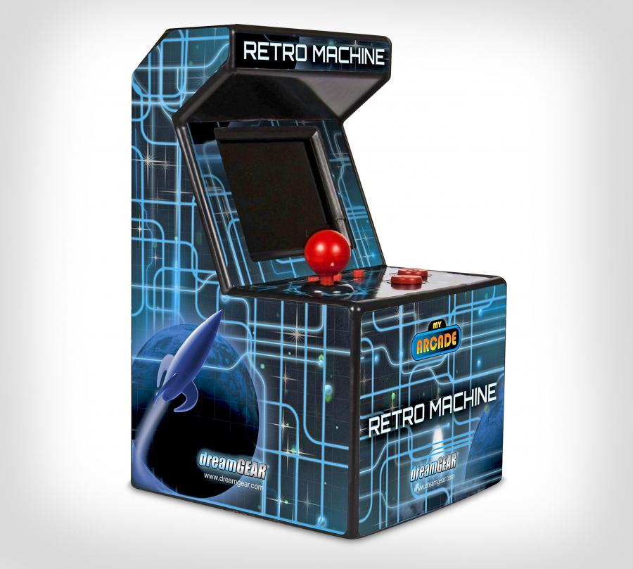 Retro Mini Arcade Machine Has 200 Pre-Installed Nostalgic Video Games