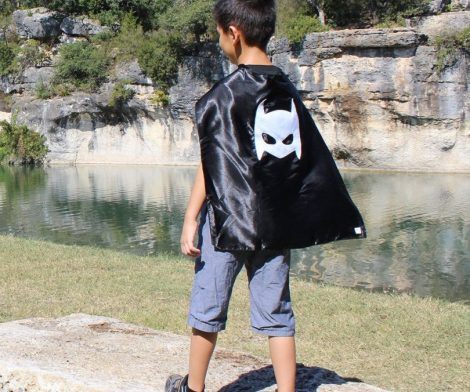 Pow Black Superhero Cape