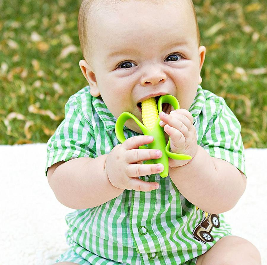 Mini Corn Cob Infant Toothbrush and Teether