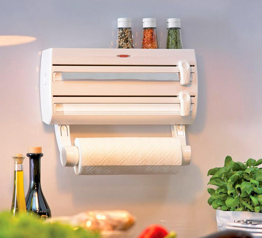 Leifheit 4-in-1 Wall-Mount Paper Towel Holder