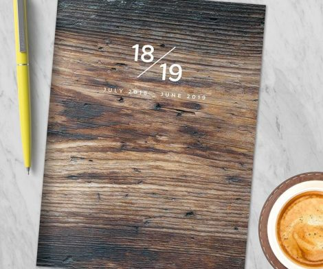 Wooden Monthly Planner