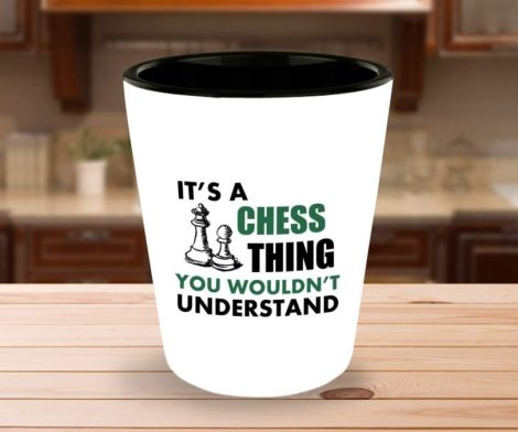 Chess Player Shot Glass