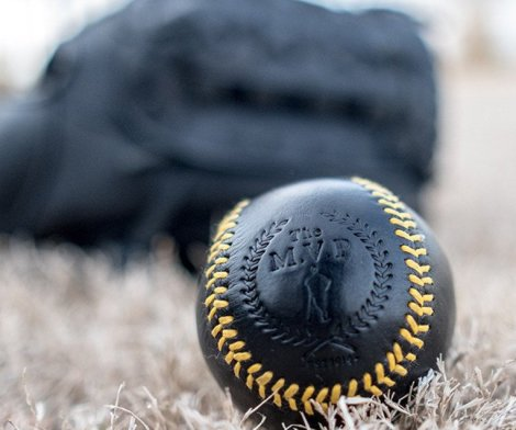 Executive Leather Yellow Stitch Baseball