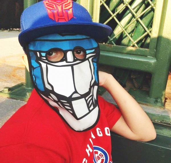 Transformers Trucker Hat With a Dropdown Face Mask