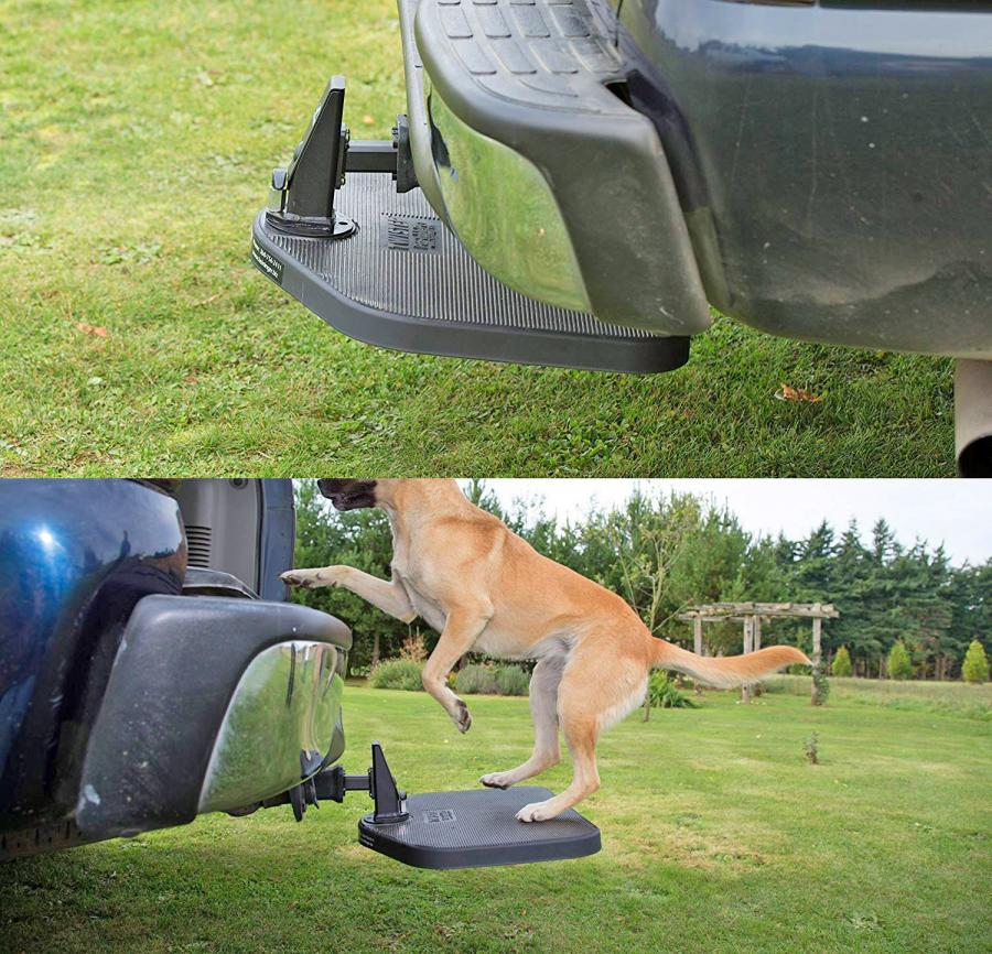 Twistep Hitch Dog Step Gives Your Dog Easy Access To Your SUV or Truck