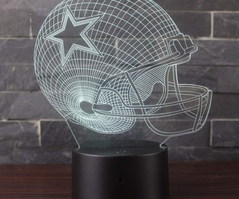 7 Colors Amazing Optical Illusion 3D Glow LED Lamp Art Sculpture Lights