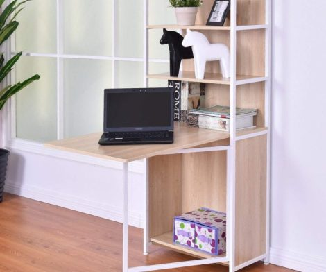 Tangkula Convertible Computer Desk with Shelf