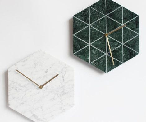 Natural Marble Wall Clock