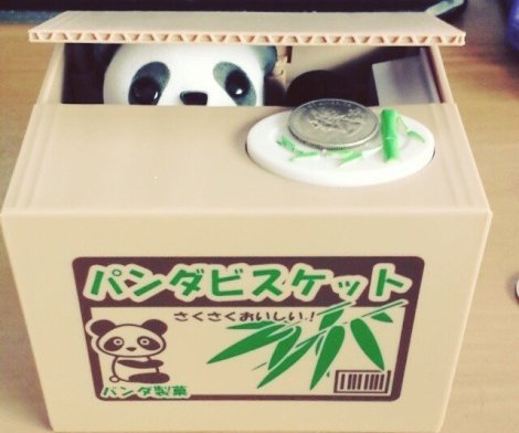 Panda Thief Coin Bank for Kids