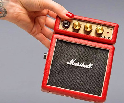 Extra Tiny Marshall Guitar Amp