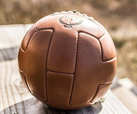 Leather T Soccer Ball