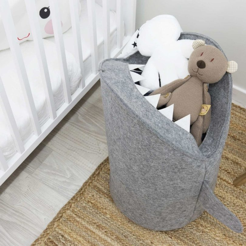 Eco-Friendly Shark Bin for Laundry and Toys Storage