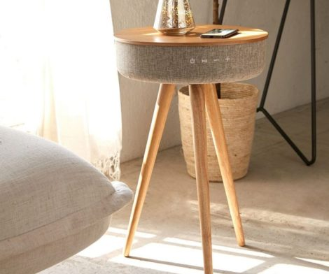 Victrola Bluetooth Speaker Table with Wireless Charging