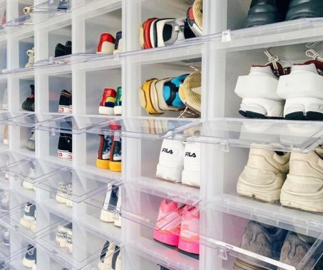 Drop-Front Shoe Storage Boxes