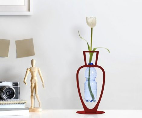 Red Primavera Water Bottle Vase