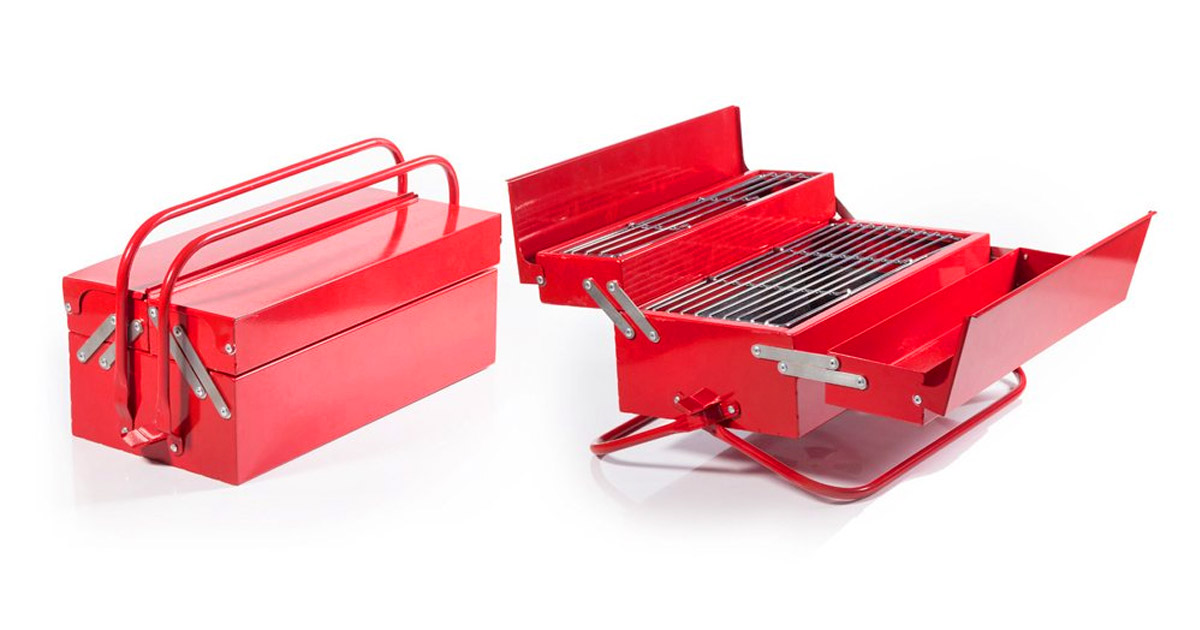 BBQ Toolbox: A Portable Grill That Looks Just Like a Toolbox