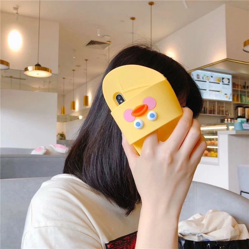 3D Cartoon Duck Flip Flop iPhone Case