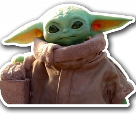 Baby Yoda The Child Decal Vinyl