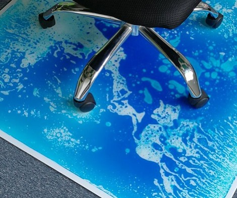 Anti Slip Liquid Encased Office Chair Mat