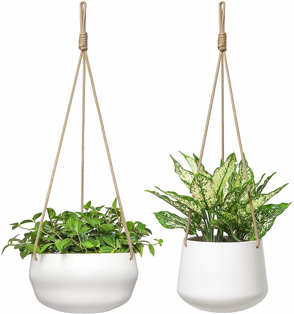 Modern Ceramic Hanging Planter for Indoor Plants