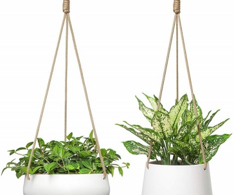 Modern Ceramic Hanging Planter