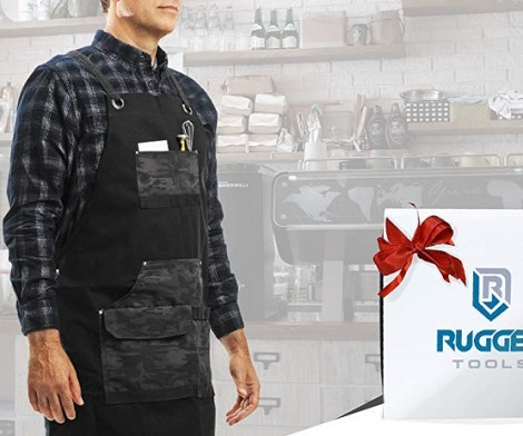 Rugged Heavy Duty Work Apron with Tool Pockets