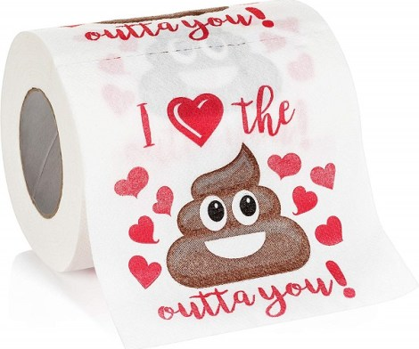 Valentine's Day Funny Novelty Toilet Paper