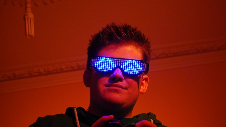 Bluetooth LED Light Up Glasses for Parties & Nightclubs