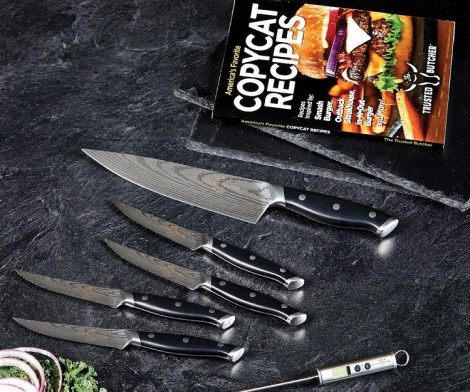 Full Tang Kitchen Knife Set