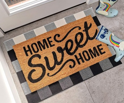 Home Sweet Home Front Door Welcome Mat