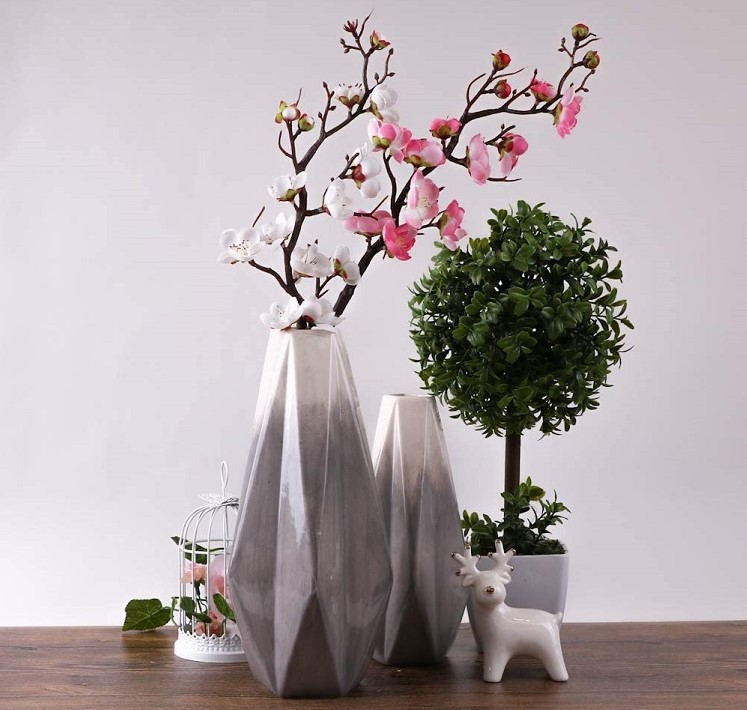 Ceramic Modern Geometric Flower Vase