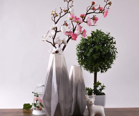 Ceramic Geometric Flower Vase
