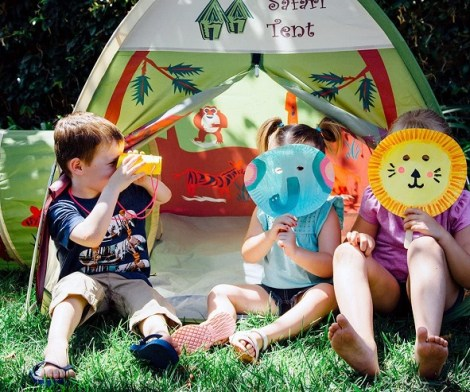 Kids Safari Fun Dome Tent with Crawl Tunnel
