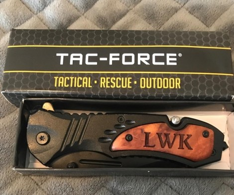 TAC-FORCE Engraved Pocket Knife with Clip