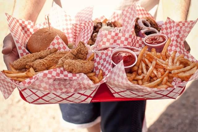 American classics from burgers to hot dogs to piping-hot, breaded and deep-fired pickle spears. Credit: Copyright 2016 Seth Joel