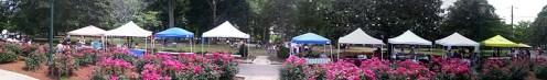 """Vendor tents at Herman Park """"Art in the Park"""" event (June), Goldsboro, NC."""