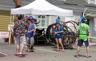 More hooping and balloon millinery.
