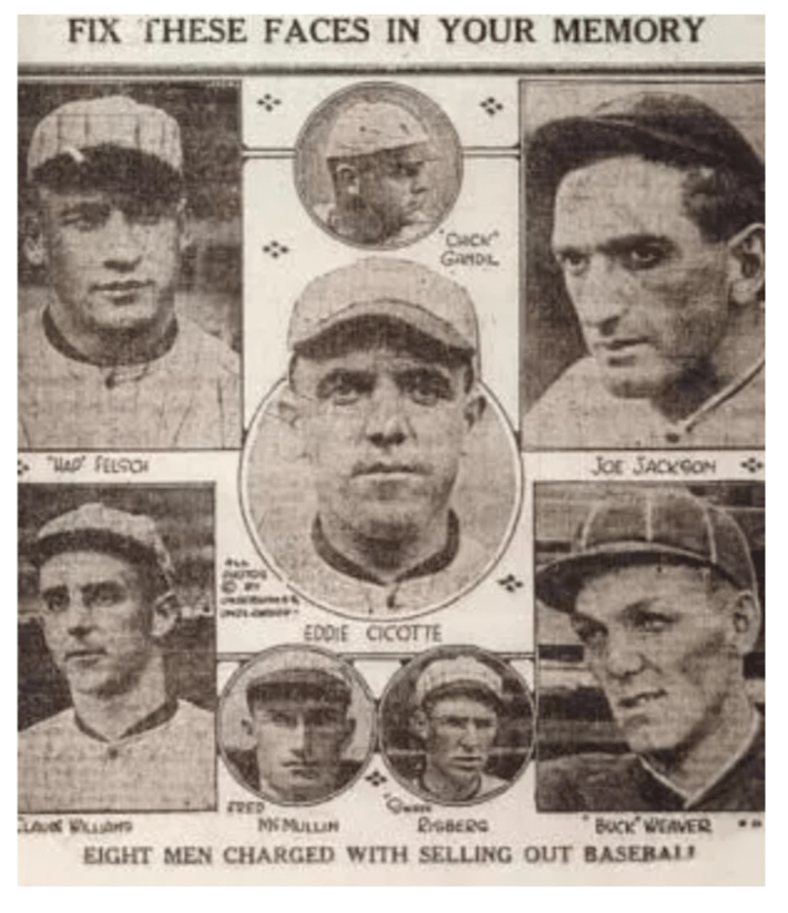 1919 White Sox Players Throwing Game