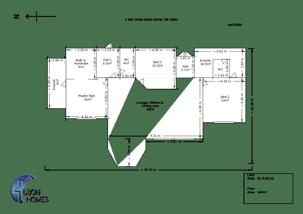 3 bed house in Det Udom