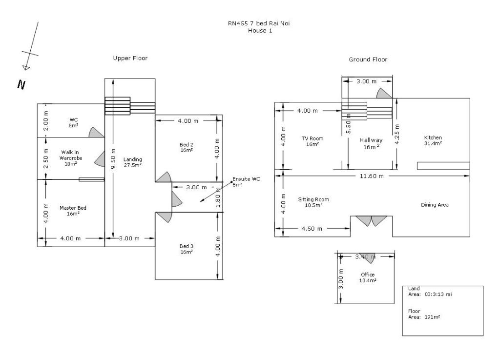 7 bedroom Luxury Estate House 1 Layout