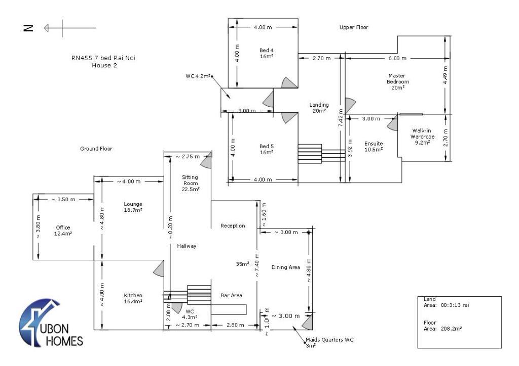 7 bedroom Luxury Estate House 2 Layout