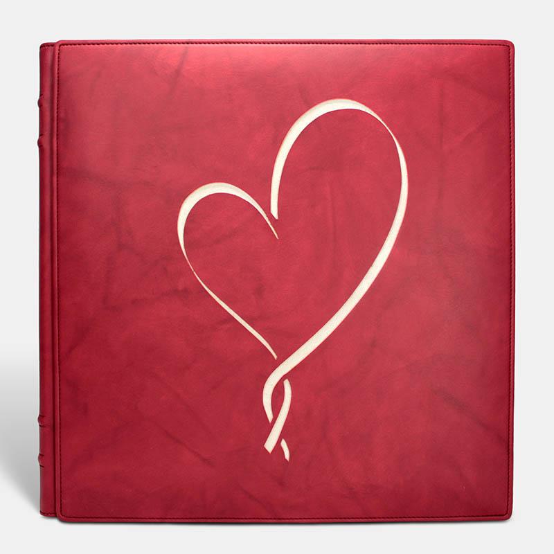 Album de fotos - Vaqueta Rojo Hearth - Pielfort