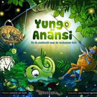 Yungo en Anansi En de zoektocht naar de verdwenen kiwi - test cover 1 - Ubuntopia