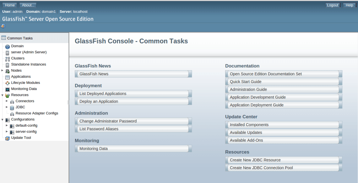 Glassfish home page
