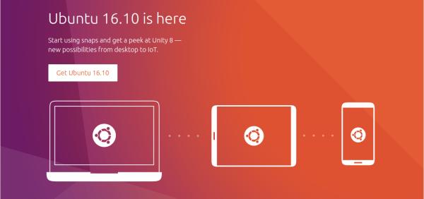 Ubuntu 16.10 – Unity8 Download