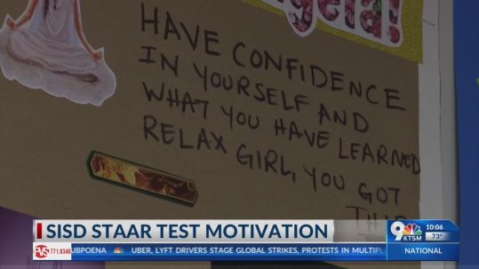 SISD teacher uses unique motivation for STAAR test