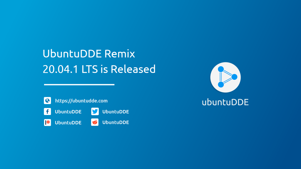 UbuntuDDE Remix 20.04.1 Released